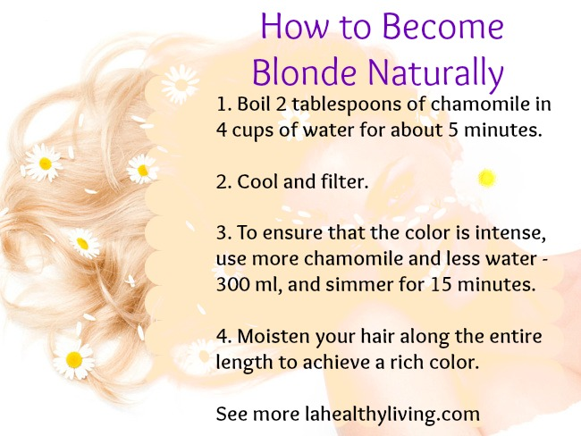How To Make Your Hair Lighter Naturally