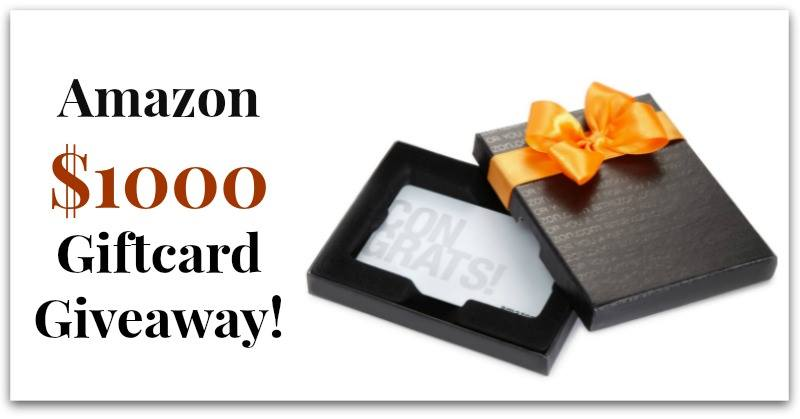 February Giveaway: Amazon $1000 Gift Card